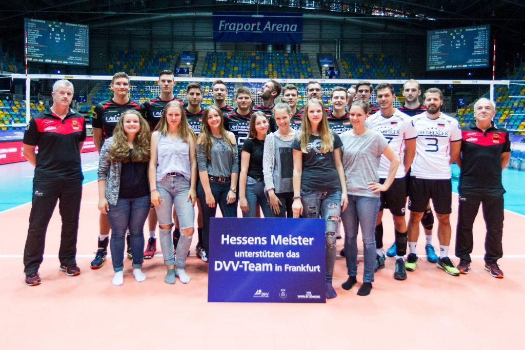 Meisteraktion; FIVB Volleyball World League Group 3 Finals, fraport Arena, Frankfurt (Main) Germany, 20160701: Semifinal Germany vs Chinese Taipei (Deutschland gegen Taiwan)